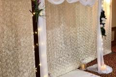 rustic-arch-wedding-archway-ceremony-swags-candles-lanterns-petals-marriage